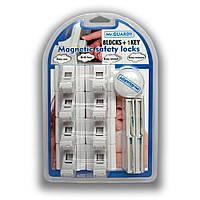 Магнитный замок блокиратор мебельный от детей (8 замков, 1 ключ)