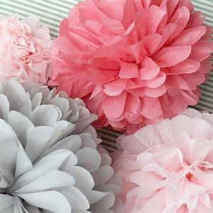 Помпоны - бумажные шары из тишью