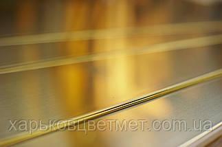 Лист латунний напівтвердий, товщина 20,0 мм (розмір 600мм х 500мм), фото 2