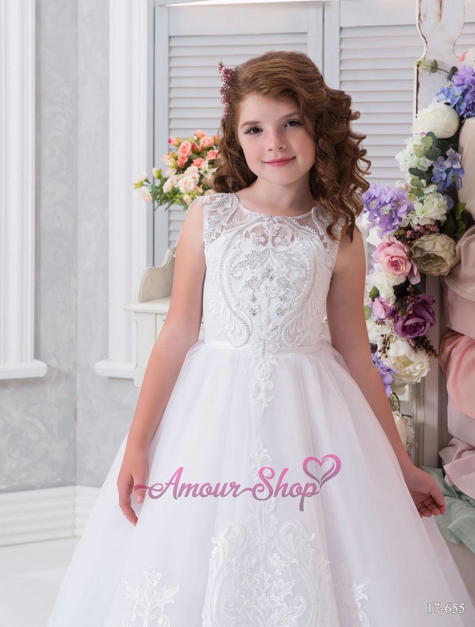 Детское платье как у невесты. Белое, пышное, нарядное, с открытой спинкой