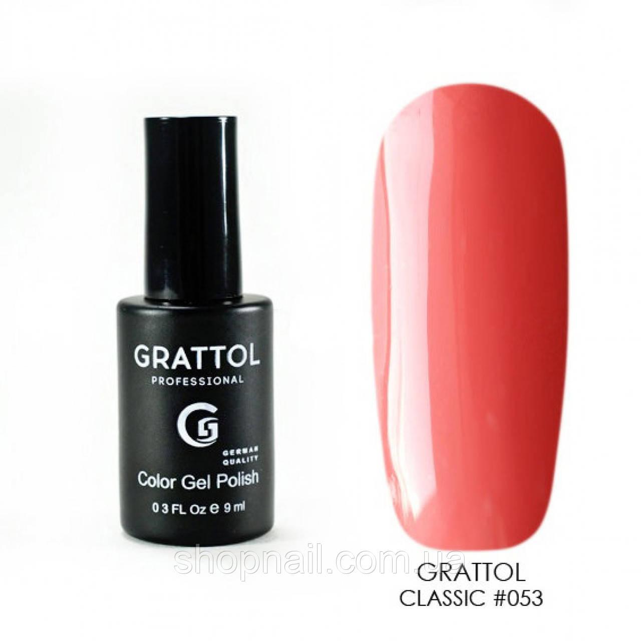 Grattol Gel Polish Dark Coral 9 ml  №053, 9ml