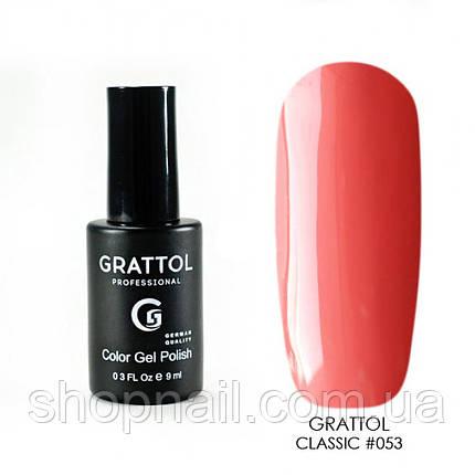 Grattol Gel Polish Dark Coral 9 ml  №053, 9ml, фото 2