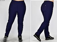 Женские брюки с широким поясом на резинке, с 50-64 размер, фото 1