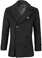 Пальто бушлат Top Gun Men's Wool Military Issue Double Breasted Coat TGJ1406 (Black)