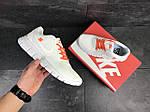 Мужские кроссовки Nike Free Run 5.0 (бело-оранжевые) , фото 6