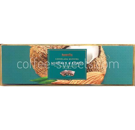 Шоколад молочный Terravita Migdaly & Kokos миндаль и кокос 225 гр, фото 2