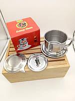 """Пресс фильтр для приготовления натурального кофе """"по -вьетнамски"""" Большой 9"""