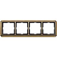 Рамка 4-постовая ANTIK, антическая латунь Shneider Merten (MTN483443)