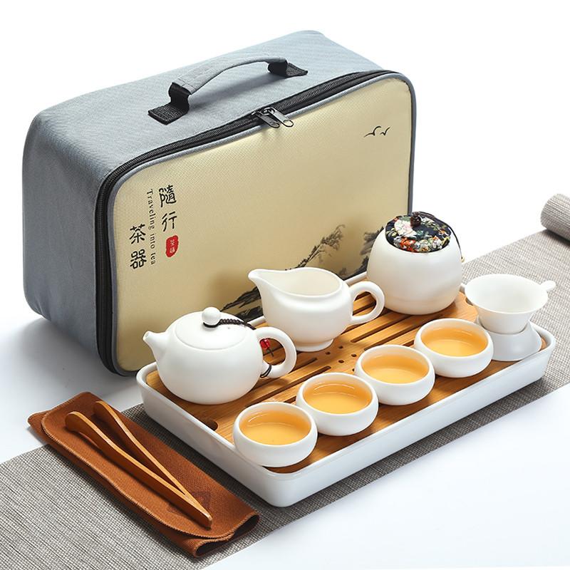 Набор для чайной церемонии Гунфу Ча дорожный из 12 предметов