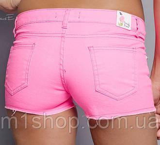 Джинсовые женские шорты | Неон цвет