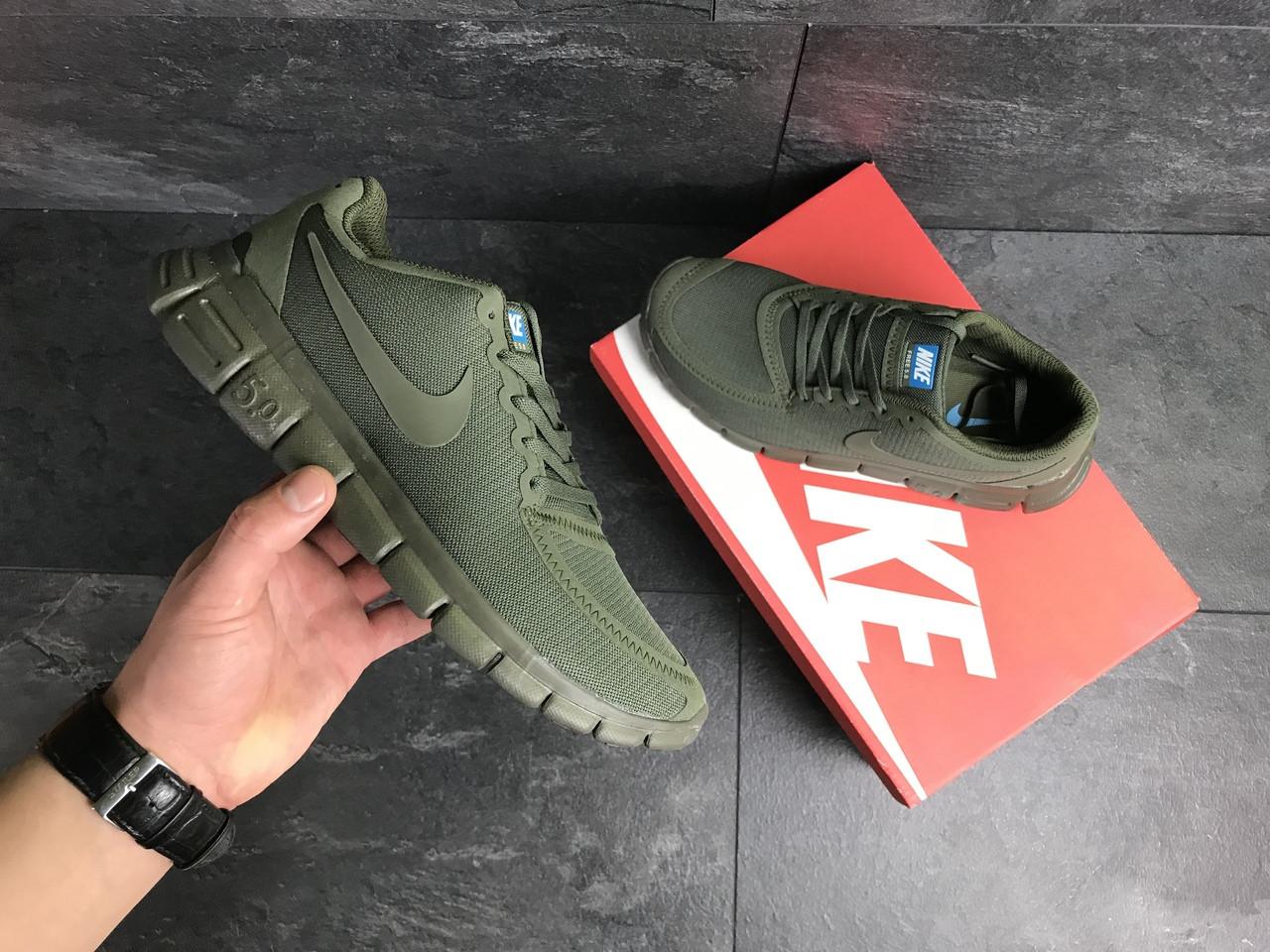 Мужские кроссовки Nike Free Run 5.0 (темно-зеленые)