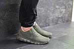 Мужские кроссовки Nike Free Run 5.0 (темно-зеленые) , фото 5