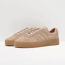 "ОРИГИНАЛ! Кроссовки Adidas SAMBAROSE W ""Бежевые"" B37861, фото 3"