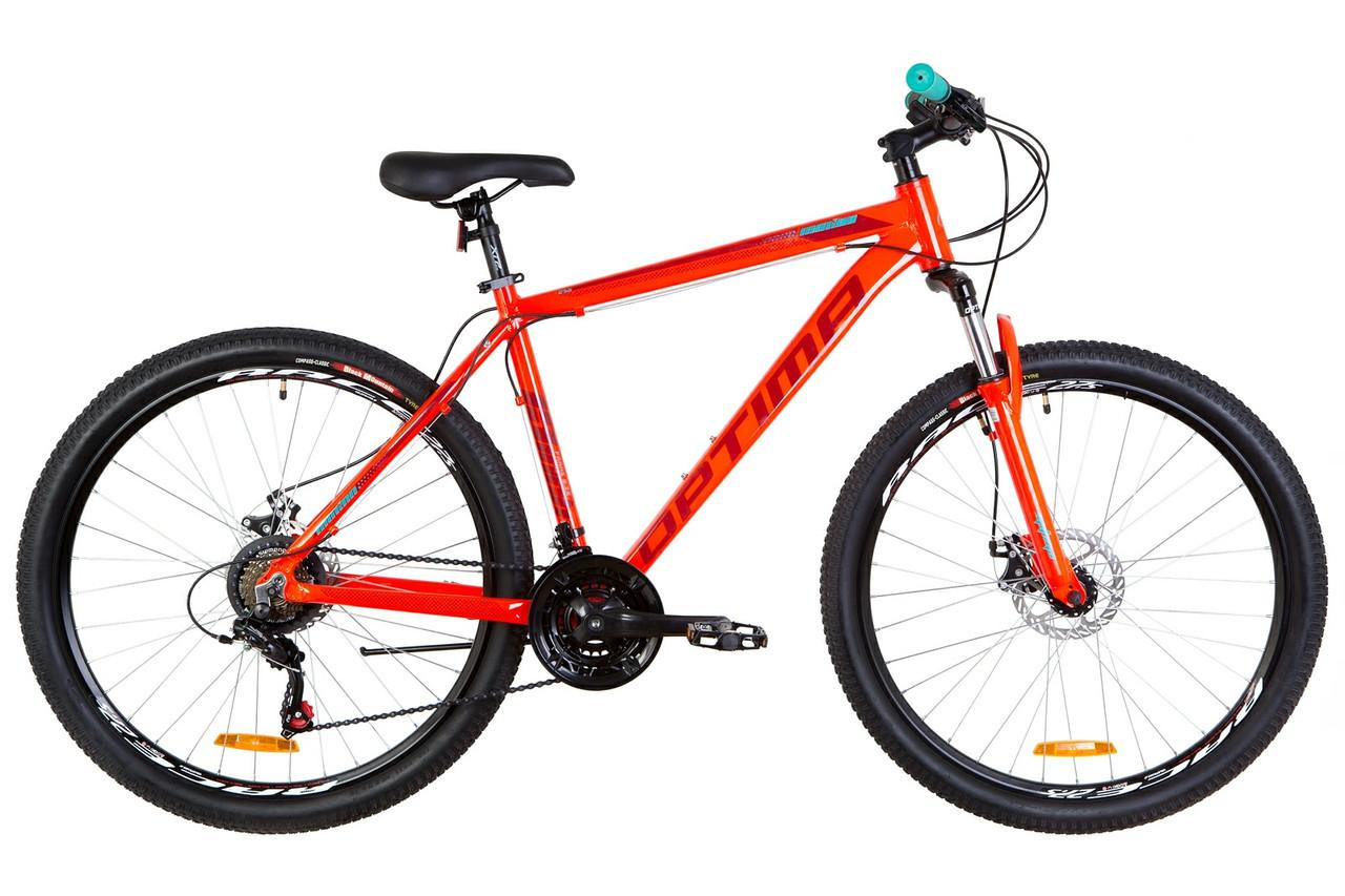 """Велосипед горный 27.5"""" Optimabikes MOTION DD 2019 (оранжевый )"""