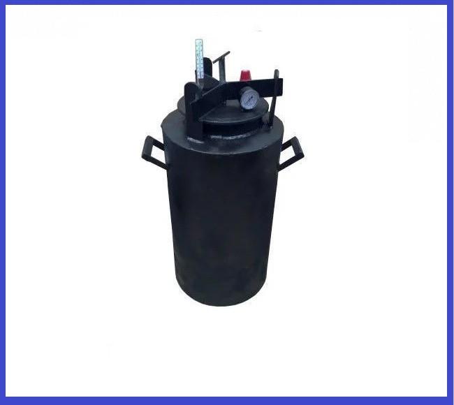 Автоклав Черный большой винт газ (0,5 л-35 банок, 1л.-20 шт)