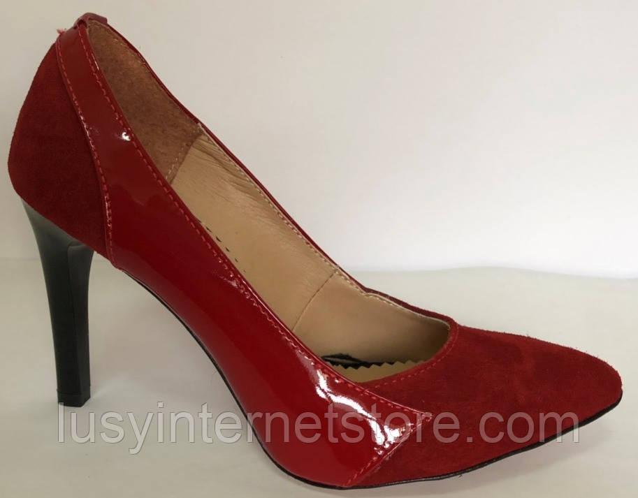 Туфли женские красные от производителя модель ФТ21