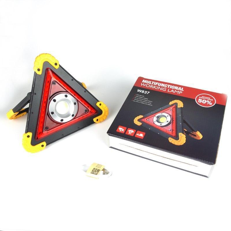 Многофункциональный светодиодный мощный фонарь с аварийным освещением аккумуляторный W837 / Аварийный фонарь
