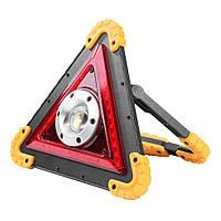 Многофункциональный светодиодный фонарь  с аварийным освещением аккумуляторный W837  / Аварийка автомобильная