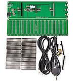 Набор эквалайзер + спектро-анализатор звука 16 полосный, много режимный АРУ . Комплект DIY, фото 6
