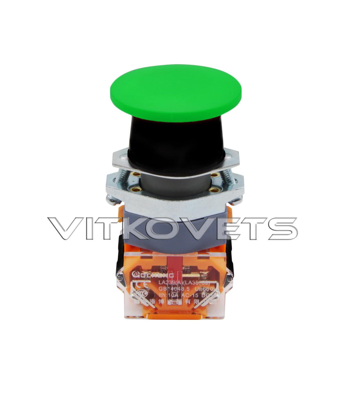 Кнопка пусковая LA39-11M без фиксатора (зеленая)