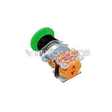 Кнопка пусковая LA39-11M без фиксатора (зеленая), фото 3