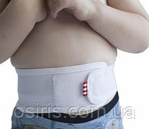 Бандаж противогрыжевый пупочный детский серый Размер 1,2,3