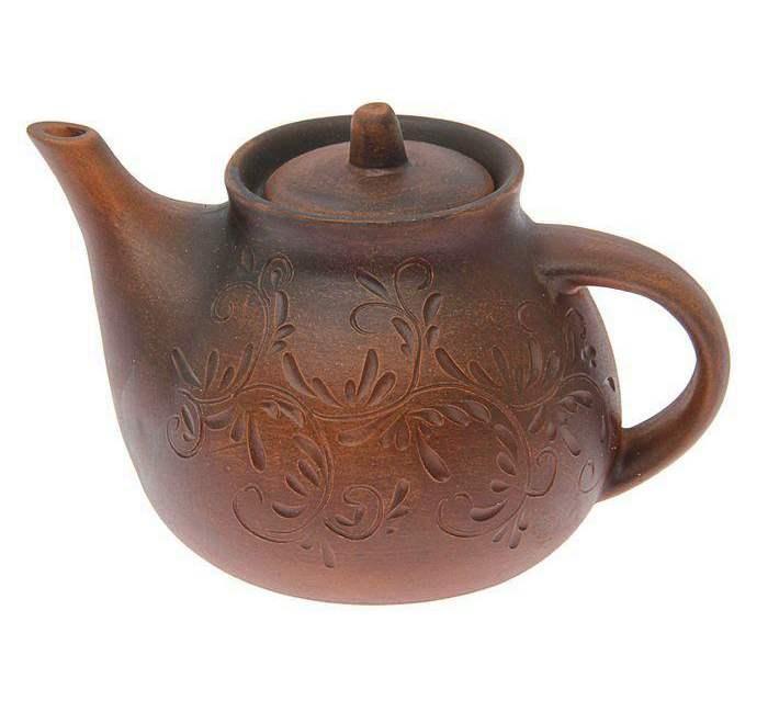 Чайник заварочный большой, декор 1,5 л