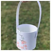 "Корзинка для цветов ""Keep life simple"" 11*10 см"