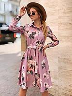Платье женское нежное стильное цветочный принт Sml3132, фото 1