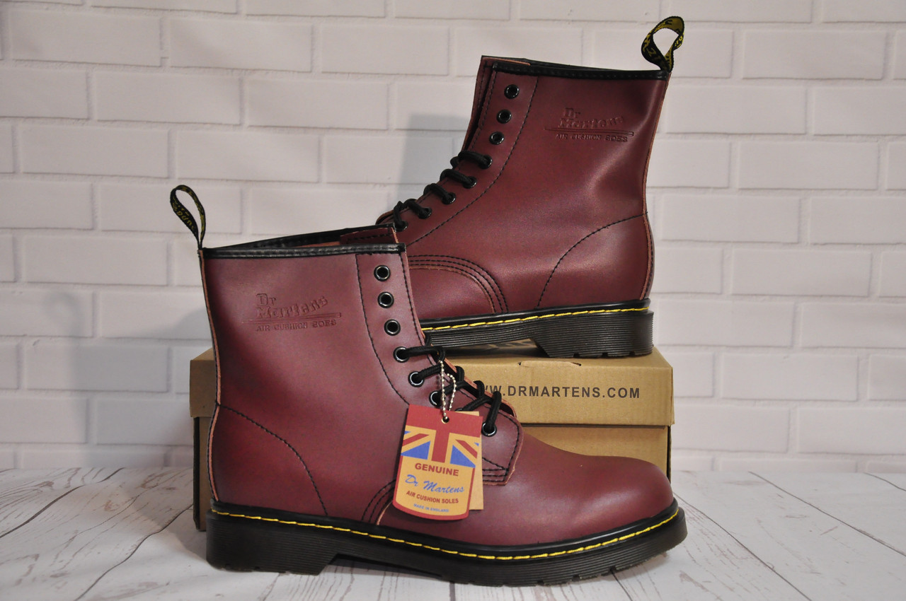 Ботинки Dr.Martens 1460 (БОРДОВЫЕ) Размер 41 42 43 44 45
