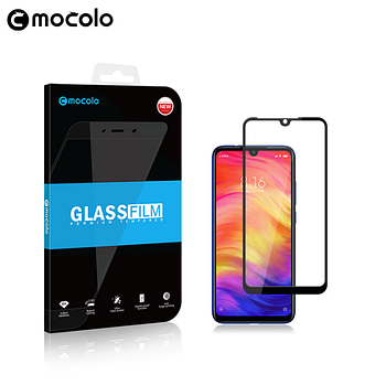 Стекло Mocolo Full Glue для Xiaomi Redmi Note 7 / Pro с черной рамкой