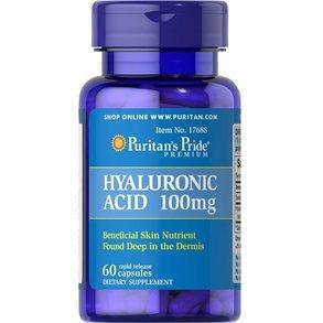 Гиалуроновая кислота, Puritan's Pride, 100 мг, 60 капсул