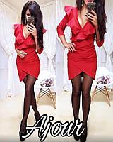 Модное молодежное женское платье,ткань креп-дайвинг,размеры 42,44,46,48., фото 1