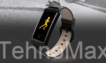 Фитнес браслет, фитнес трекер Mavens Y2, пульсометр, тонометр, черный, фото 3