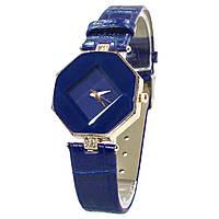 ☛Часы Rowng Геометрия Blue стрелочные часы нестандартной формы оригинальные женские
