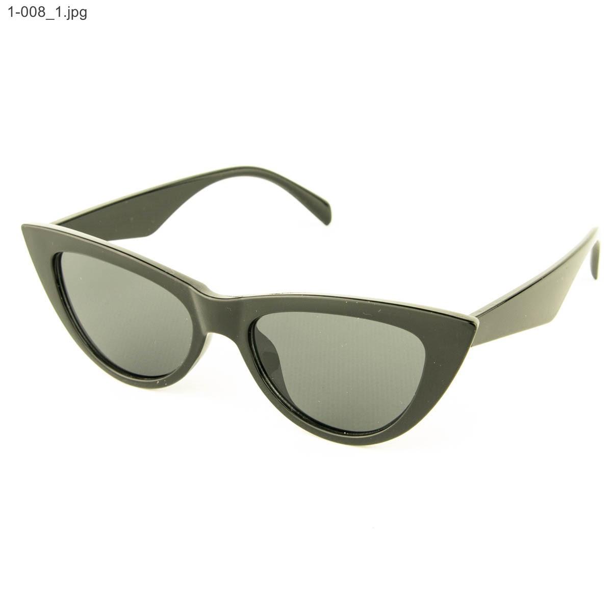 Оптом очки кошачий глаз - Черные - 1-008