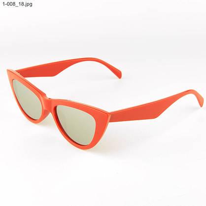 Оптом очки кошачий глаз - Красные с зеркальными линзами - 1-008, фото 3