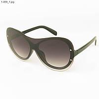 Оптом качественные стильные солнцезащитные очки - Чёрные - 1-009