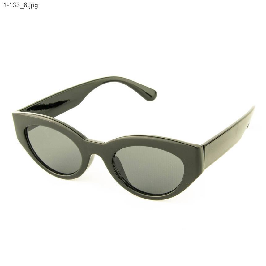 Оптом солнцезащитные очки овальной формы - Черные - 1-133, фото 2