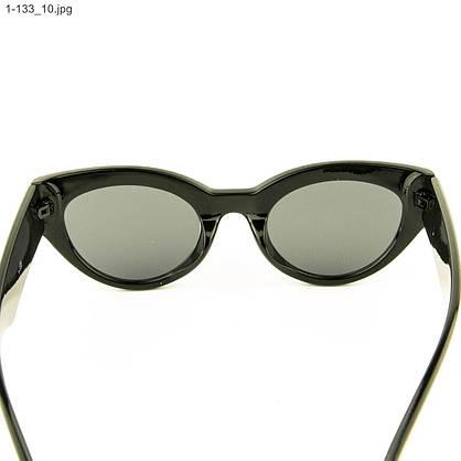 Оптом солнцезащитные очки овальной формы - Черные - 1-133, фото 3