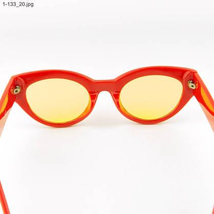 Оптом солнцезащитные очки овальной формы - Красные - 1-133, фото 3