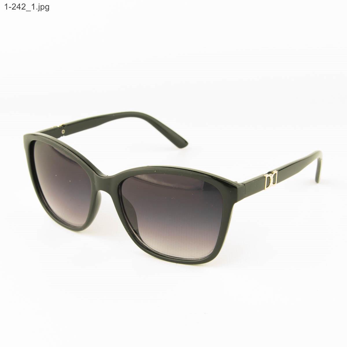 Оптом очки солнцезащитные женские - черные - 1-242