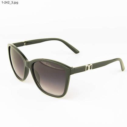 Оптом очки солнцезащитные женские - черные - 1-242, фото 3