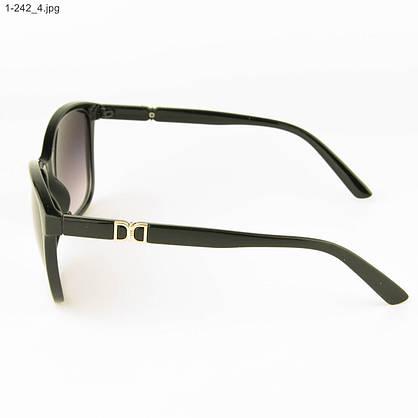 Оптом очки солнцезащитные женские - черные - 1-242, фото 2
