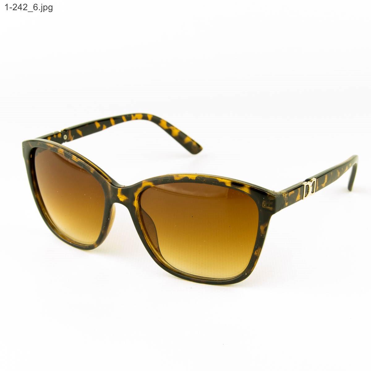 Оптом очки солнцезащитные женские - леопардовые - 1-242