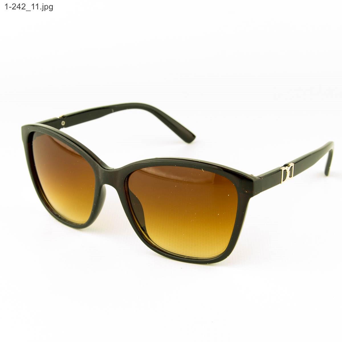 Оптом очки солнцезащитные женские - коричневые- 1-242