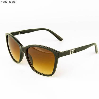 Оптом очки солнцезащитные женские - коричневые- 1-242, фото 3