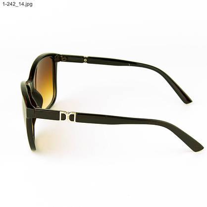 Оптом очки солнцезащитные женские - коричневые- 1-242, фото 2