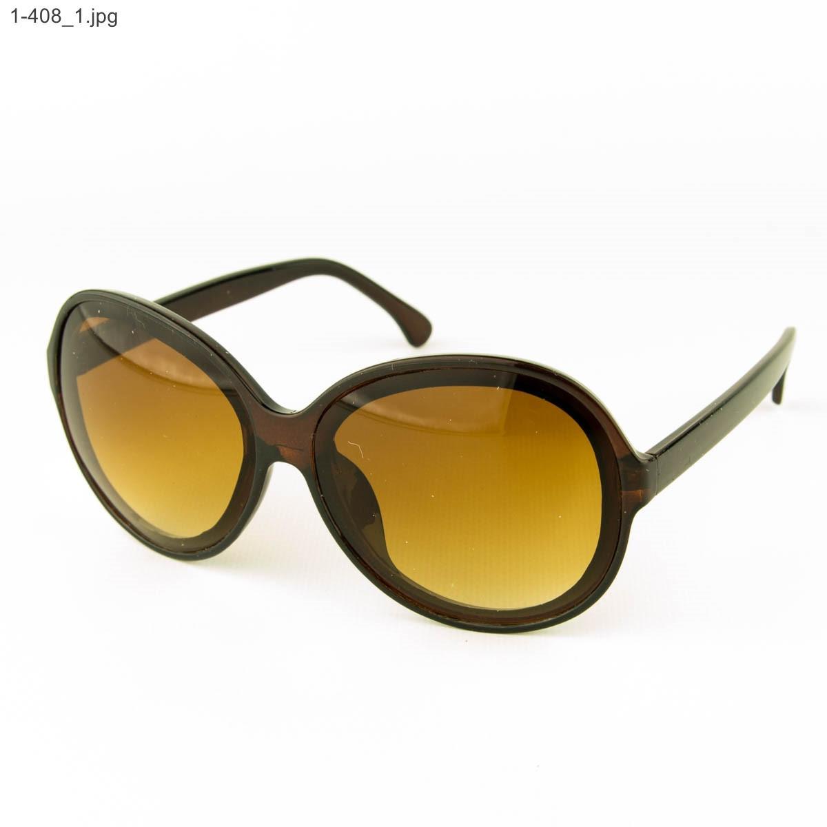 Оптом молодежные солнцезащитные очки - Коричневые- 1-408