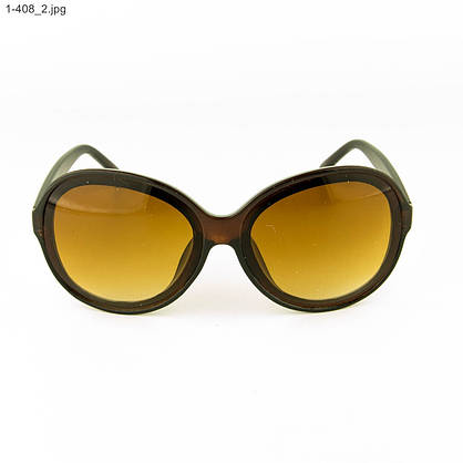 Оптом молодежные солнцезащитные очки - Коричневые- 1-408, фото 2